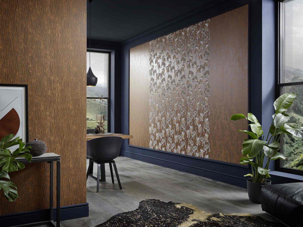 Tapeten Trends 2019 Wohnzimmer Bilder  Tapeten Fur Wohnzimmer 30 Ausgefallene Designs In ...